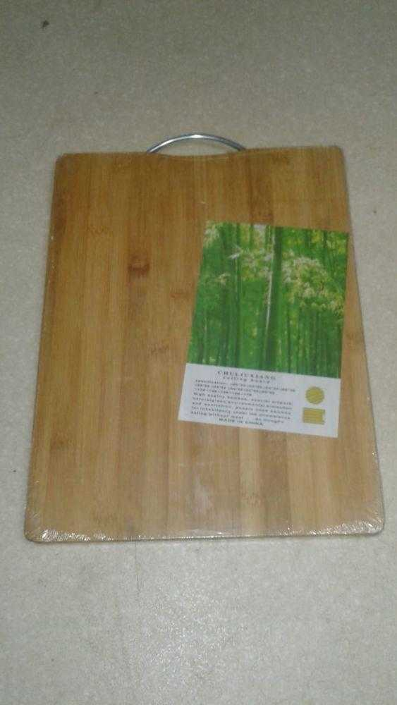 раздел. бамбук Большая 30 40см 8058 - Доска раздел. бамбук Большая 30-40см