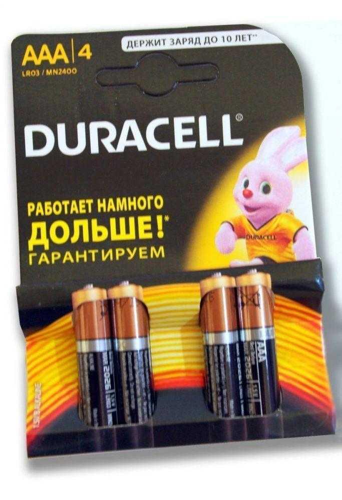 Duracell LR03 4 40 1123 - Батарейка Duracell LR03 4/40