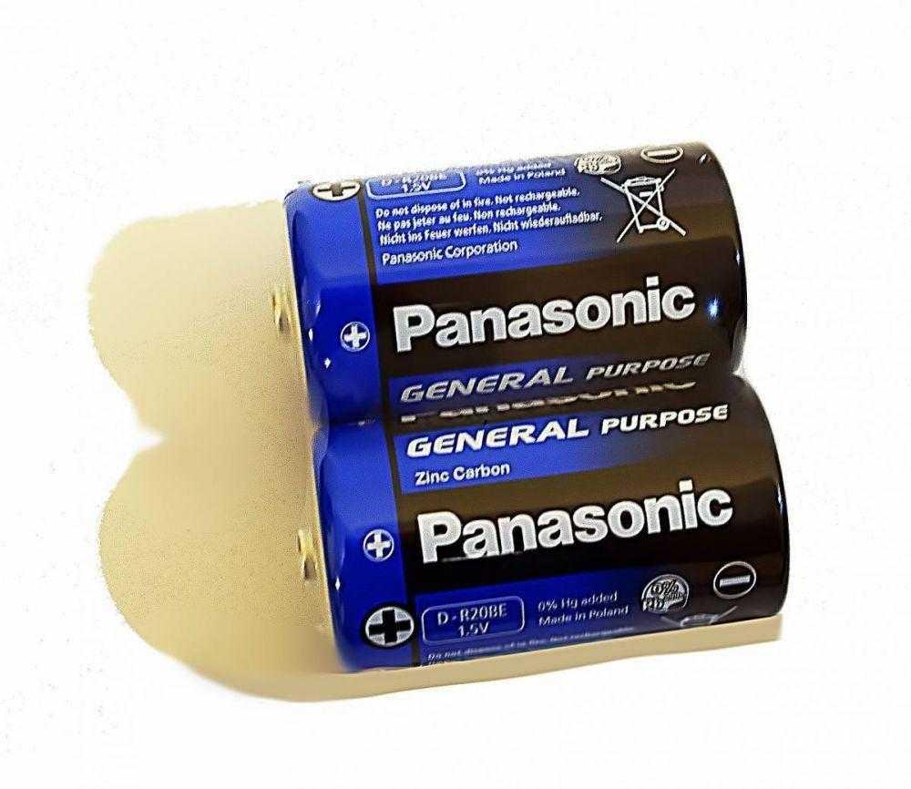Panasonic Zinc Carbon R20 2 24 1116 - Батарейка Panasonic Zinc Carbon R20 2/24