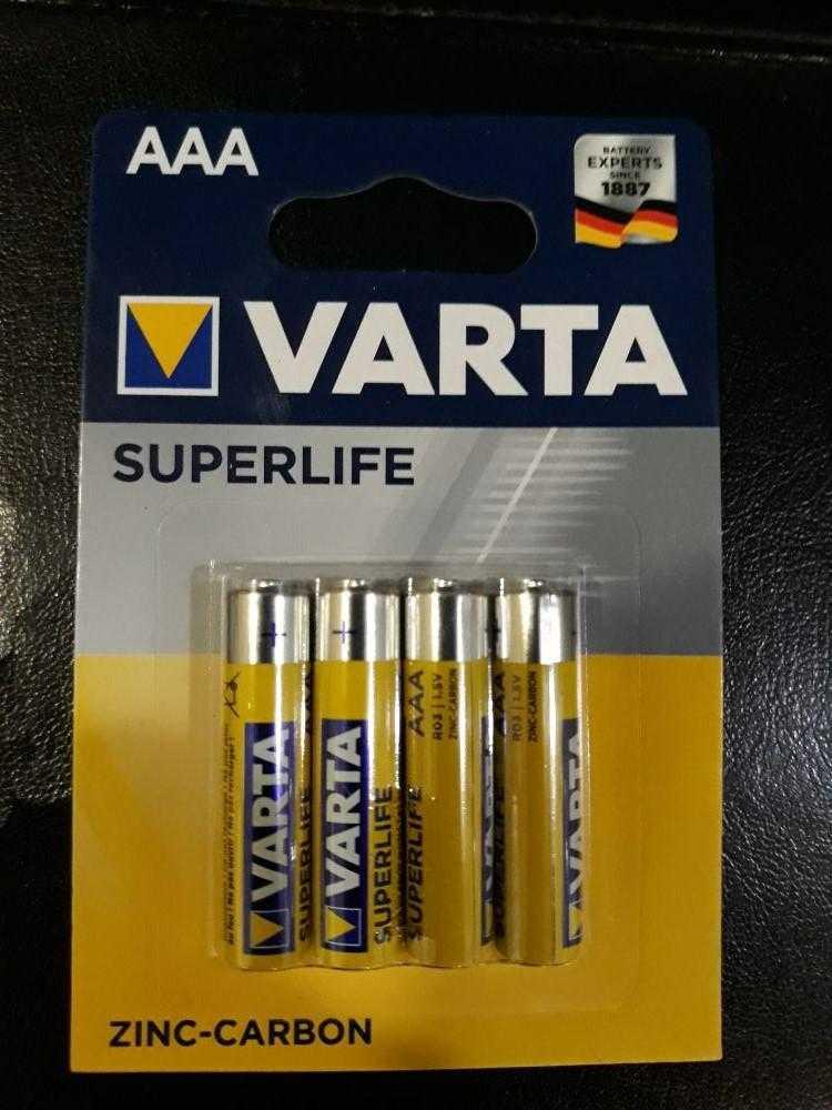VARTA R03 4 48 96 1103 - Батарейка  VARTA R03 4/48/96