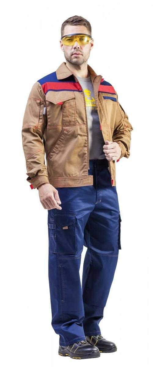 Рольф 1спина - Куртка Рольф 1 бежевый/т.синий/красный