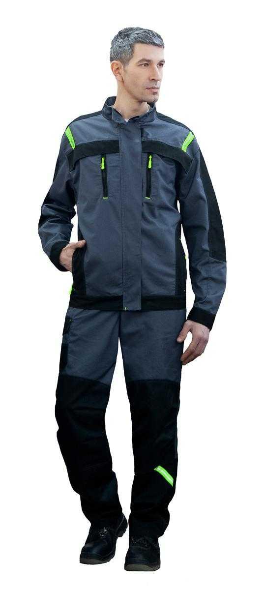 ретушь перед куртка - Куртка Статус PREMIUM (серый/черный)