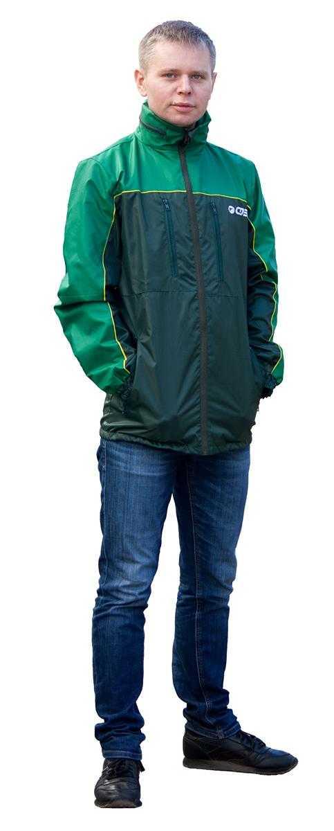 IMG 9573 - Куртка ветровка т.зелёный/зелёный
