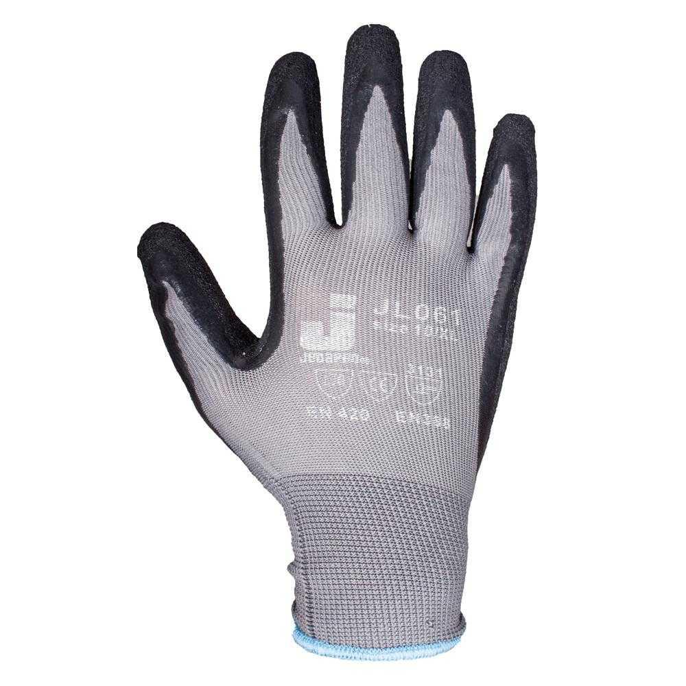 js jl061 - Защитные промышленные трикотажные перчатки из полиэстера с латексным покрытием ладони JL061