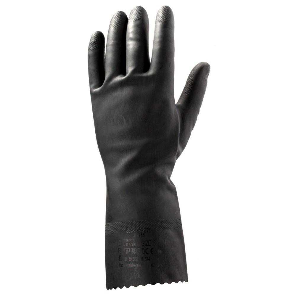 js jl711 - Перчатки латексные черные без напыления JL711