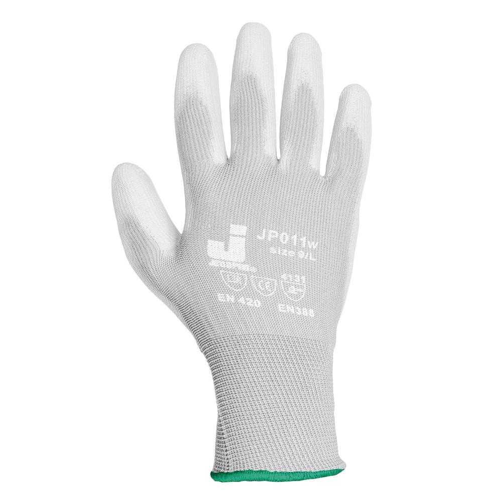 js jp011w - Перчатки белые с полиуретановым покрытием JP011w