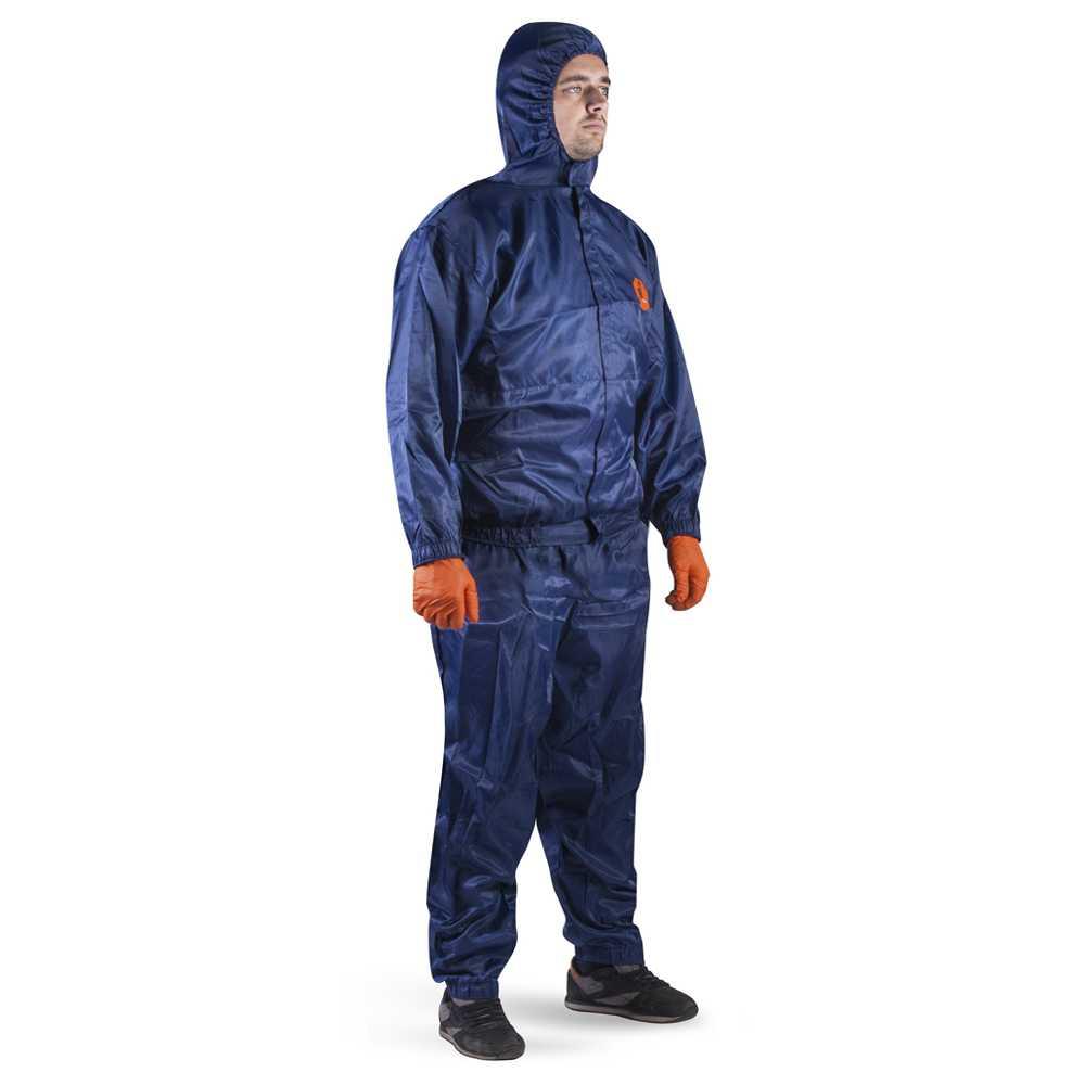 js jpc76b - Костюм (куртка + брюки) малярный синий многоразовый  JPC76b
