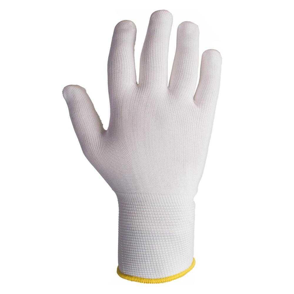 js jsd011 - Бесшовные трикотажные защитные перчатки с точечным ПВХ покрытием