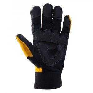 js xrt 10 300x300 - Перчатки защитные трикотажные с ладонной стороны из искусственной кожи от вибрации JAV01, черно-желтые