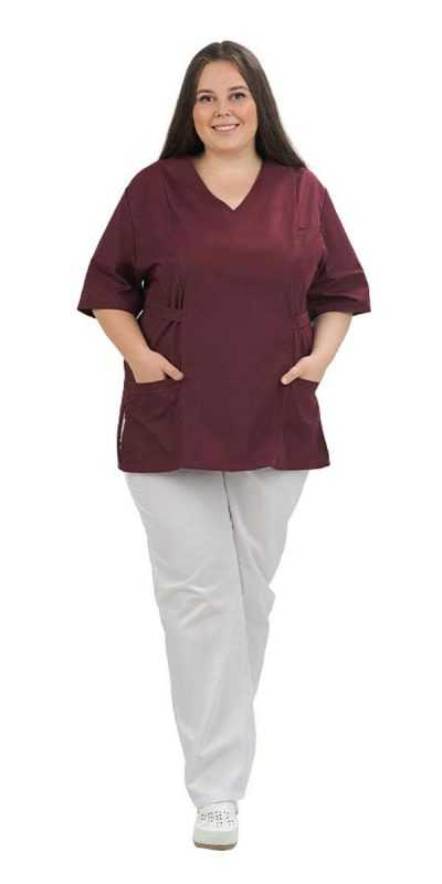 010 400x800 - Блуза медицинская цветная Вилора (size +)