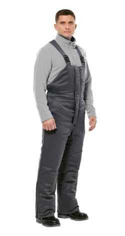 250x472 - Полукомбинезон рабочий мужской зимний Прим цвет серый