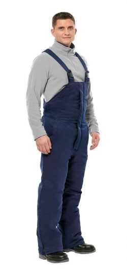 250x540 - Полукомбинезон рабочий мужской зимний Прим цвет темно-синий