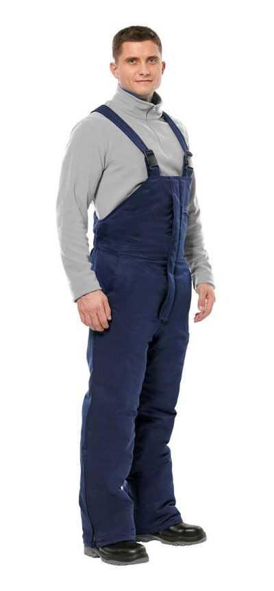 400x863 - Полукомбинезон рабочий мужской зимний Прим цвет темно-синий