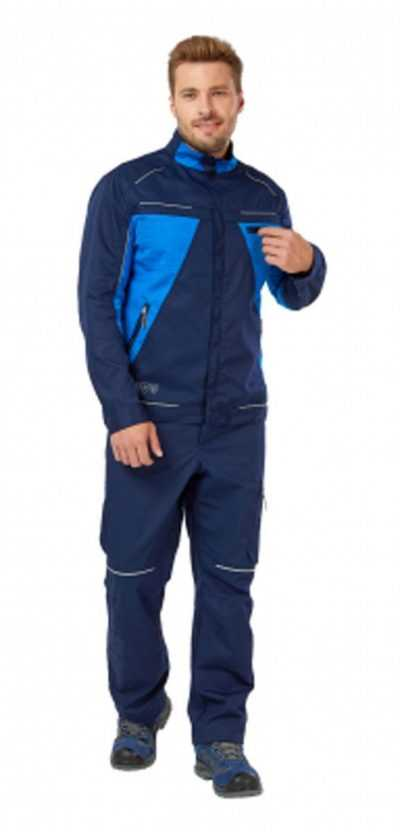 2a05e5c730725c23956273ee2961cc3b 400x832 - Куртка рабочая мужская летняя Shelby цвет темно-синий/голубой