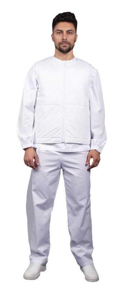 8ae7659acefece6f94bad43c0ccffbe7 400x962 - Жилет утепленный универсальный Комфорт (Дюспо), белый