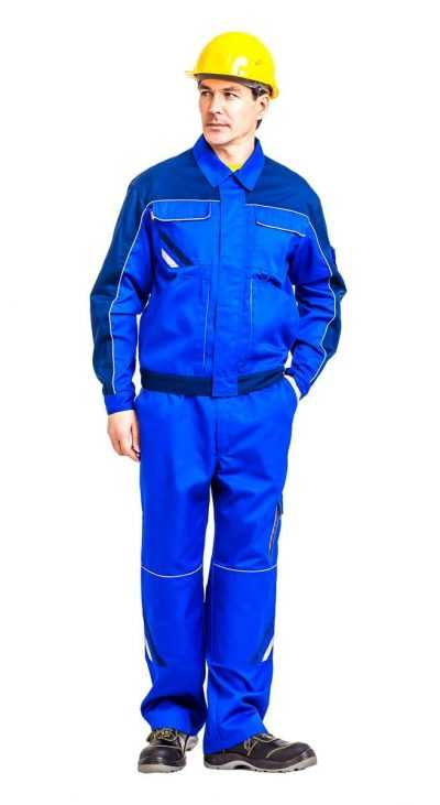 kur505 kopiya 400x731 - Куртка рабочая мужская летняя Мегаполис цвет василек/темно-синий