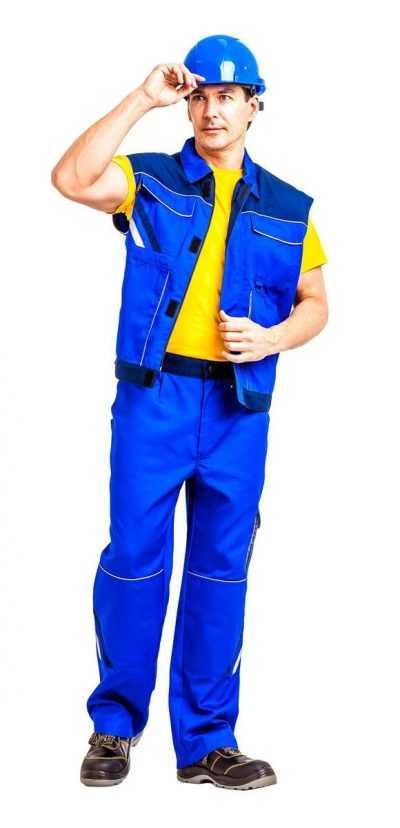 zhil505 kopiya 400x828 - Жилет рабочий летний/демисезонный Мегаполис цвет василёк/темно-синий