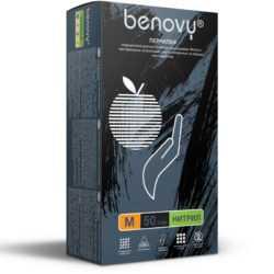 BENOVY™ нитриловые 35гр. 50 пар черный 250x250 - Перчатки BENOVY™ нитриловые 3,5гр. (50 пар), черный