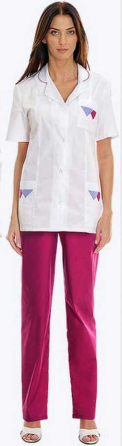 63b8c2f2ef8dc7c8362d8daf2896f1d8 250x909 - Костюм Нимфа блуза+брюки белый/розовый