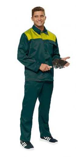 "pol504 t siniy2019 litso 250x514 - Костюм рабочий мужской летний ""Дамаск"" цвет зеленый/желтый"