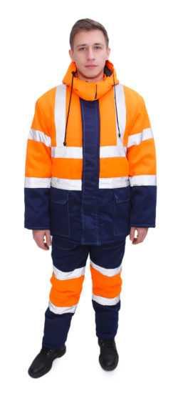 Dorozhnik greta 250x561 - Костюм зимний Дорожник (Ткань смесовая пл. 210 г/м2) п/к, оранжевый/т.синий
