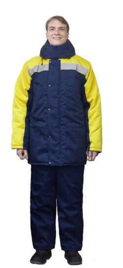 250x542 - Костюм зимний Ракурс куртка+брюки, синий/желтый