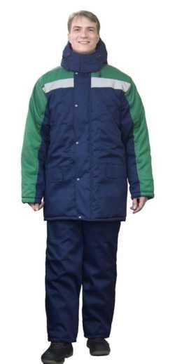 250x518 - Костюм зимний Ракурс куртка+брюки, синий/зеленый