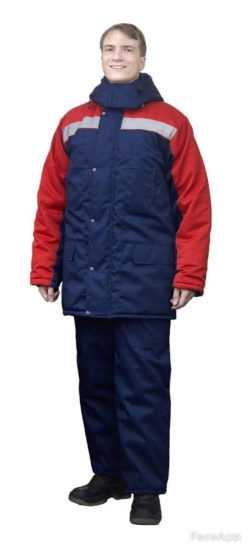 250x550 - Костюм зимний Ракурс куртка+брюки, синий/красный