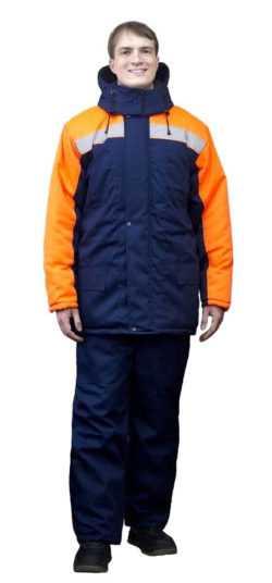 250x536 - Костюм зимний Ракурс куртка+брюки, синий/оранжевый