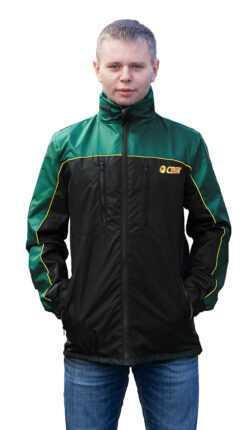 желтаяэмблема 250x430 - Куртка ветровка черный/зелёный