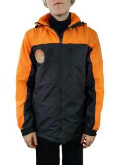 250x333 - Куртка ветровка черный/оранжевый