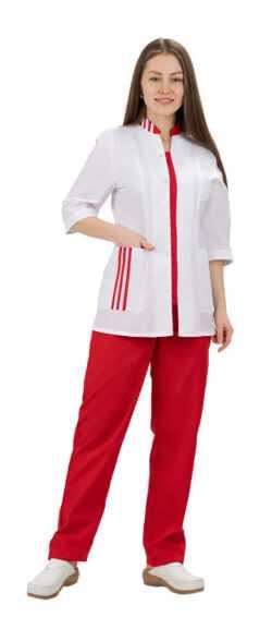 001 250x577 - Костюм медицинский женский Спринт, красный