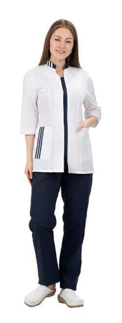 008 250x658 - Костюм медицинский женский Спринт, т.синий