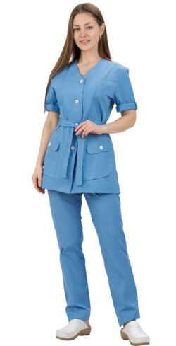 2 250x489 - Костюм медицинский женский Азалия, голубой