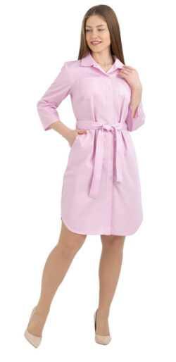 008 250x514 - Халат медицинский женский Николь, розовый