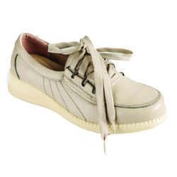 женские 250x250 - Полуботинки кожаные женские на шнурках, бежевые