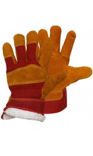 Перчатки утепленные спилковые комбинированные Сибирь