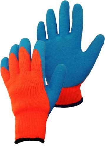 перчатки нейлоновые с рефленым покрытием
