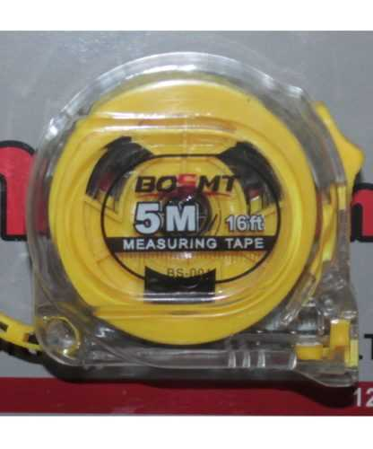 Рулетка 5м BOSMT прозрачная 1
