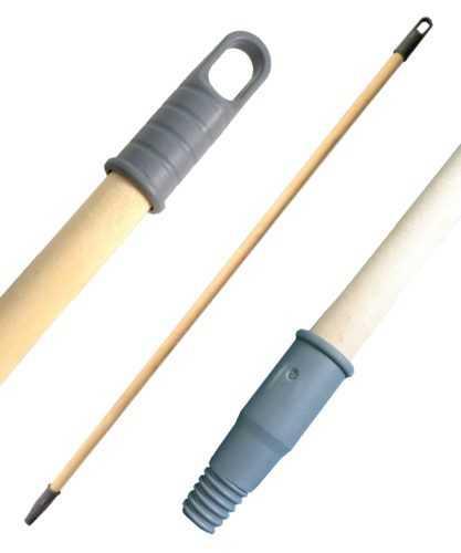 Черенок деревянный длинный 130 см с резьбой для щётки и швабры
